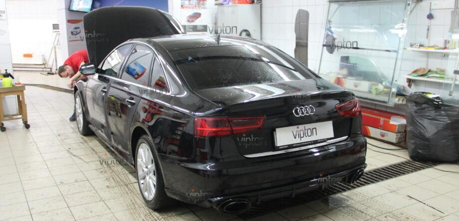 Audi A6: бронирование фар 2