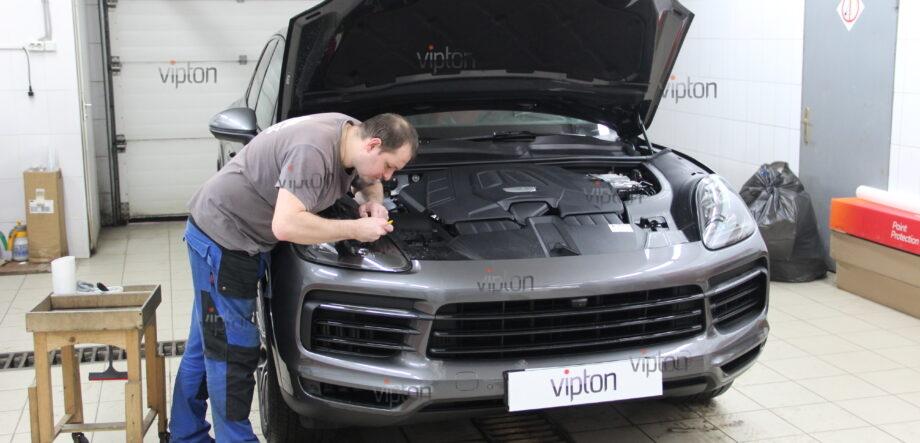 Porsche Cayenne: бронирование фар 7