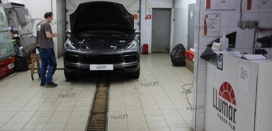 Porsche Cayenne: бронирование фар 6