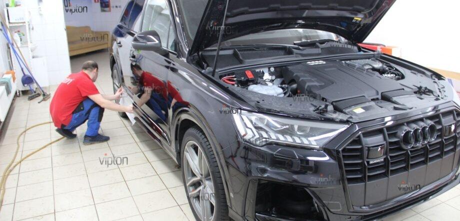 Audi Q8 антигравийная пленка 9