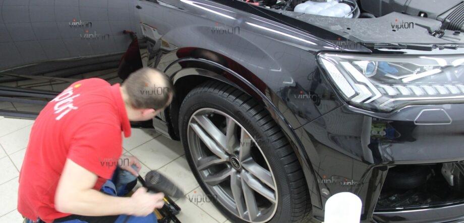 Audi Q8 антигравийная пленка 6